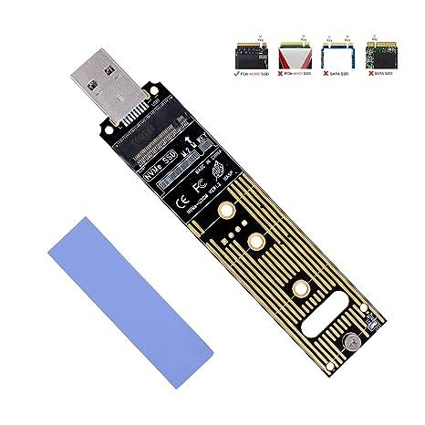 Amazon.com: Adaptador NVMe a USB, SSD M.2 a USB 3.1 tipo A ...