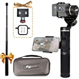 FeiyuTech G6 3-Axis Splash-proof Handheld Gimbal for GoPro Hero 6 5 4 3, Sony RX0, Yi 4K, AEE Action Camera, WIFI & Bluetooth Connect Mode, OLED Indicator, Come with Extension Pole, Side Clamp