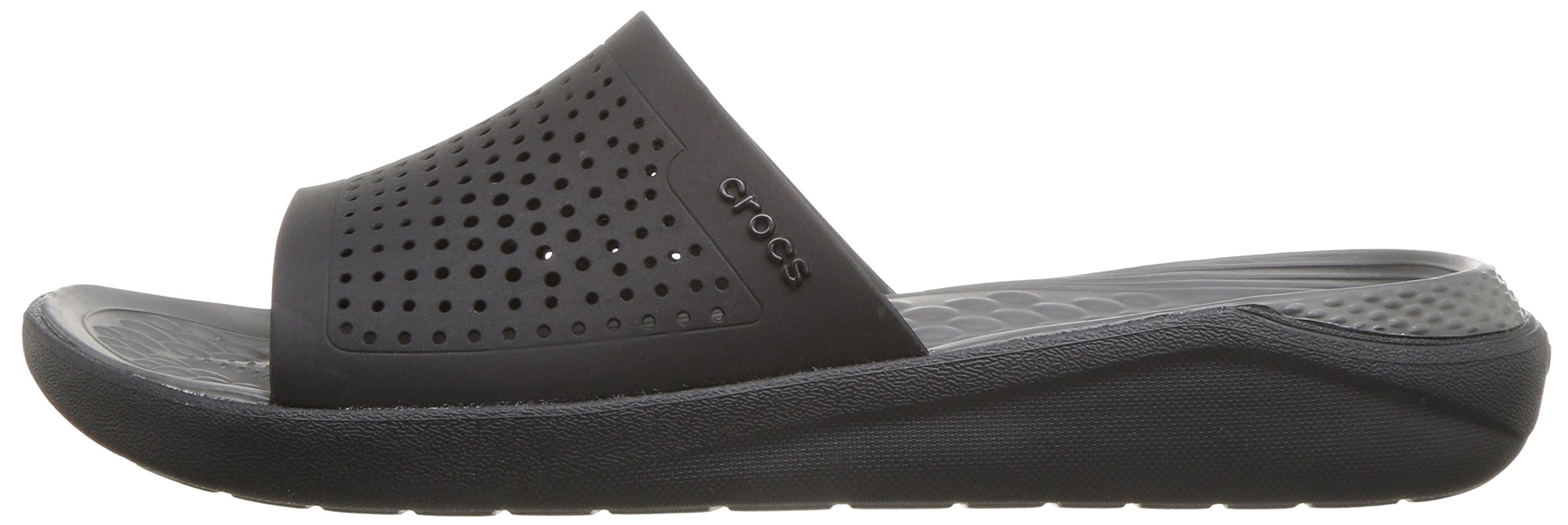 Crocs Unisex-Adults Literide Slide Sandal, Black/Slate Grey, 8 US Men/10 US Women by Crocs (Image #5)
