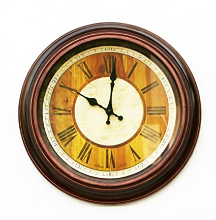 Buy Baskety Wall Clock Large Rustic Decorative Wall Clock Big
