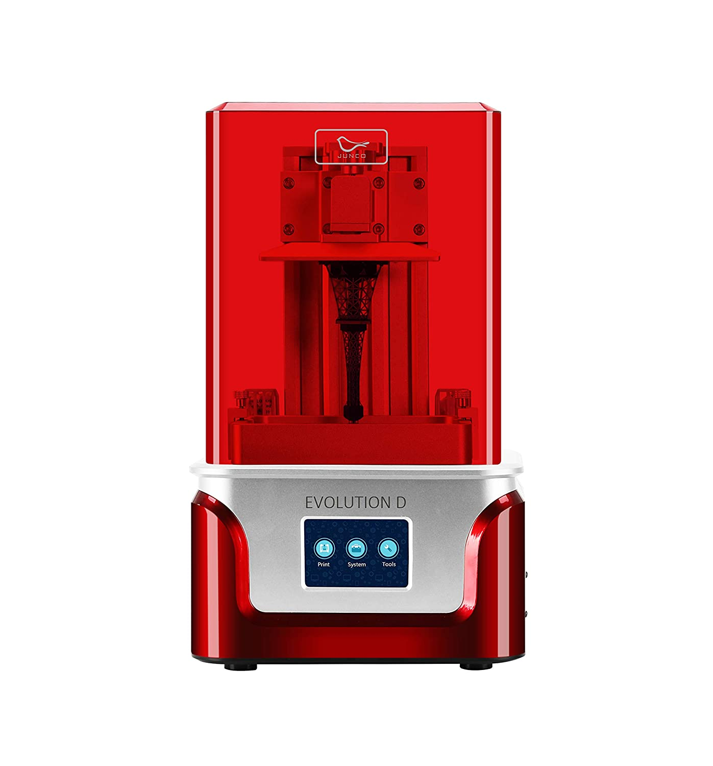 X 2.55 2020 JUNCO Evolution D 3D Printer UV LCD Resin Printer with Dual Z axis Liner Rail White W Build Size 4.52 Equipped with Friendly Resin X 5.9(H L 3.5 Inch Touch Screen