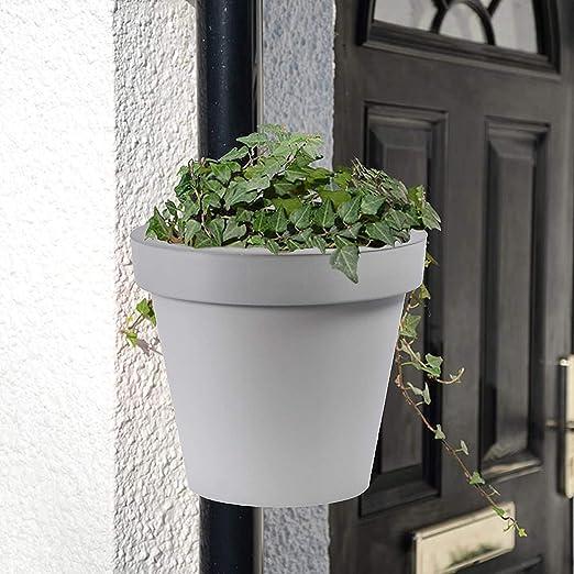 Maceta de drenaje para macetas de flores, resistente, para balcón, jardín, maceta, 3 kg de capacidad, 1 maceta de tubo.: Amazon.es: Hogar