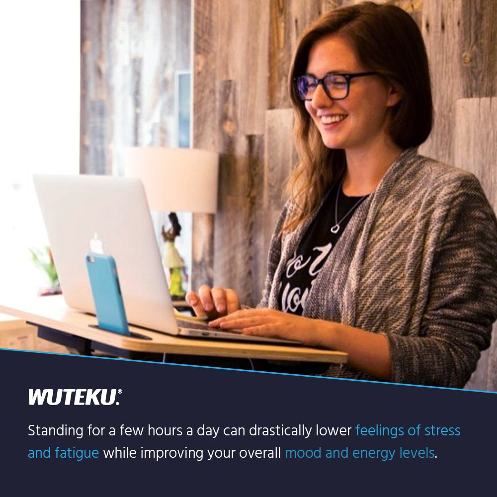 Presa telefonica e custodia da trasporto inclusa Wuteku supporto per notebook In piedi Scrivania Sedia Si adatta a qualsiasi dimensione e stile sedia Miglior Tablet /& Tabella del computer