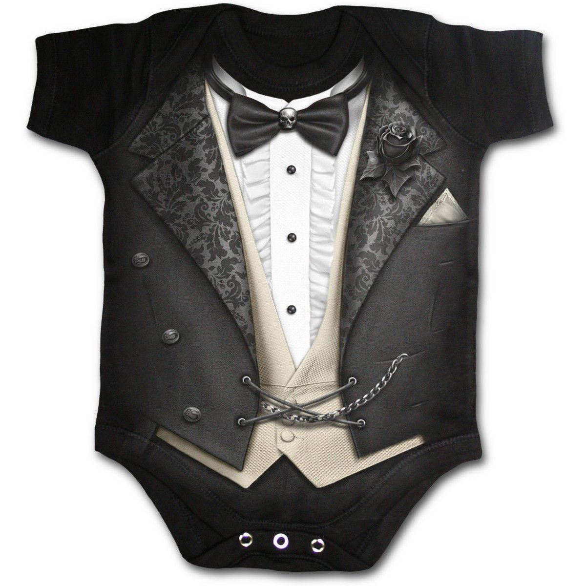 Spiral Baby-Boys - Tuxed - Baby Sleepsuit Black F030K002