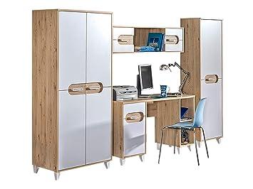 Mirjan24 Jugendzimmer Set Seco Vi 4 Tlg Komplett Kleiderschrank