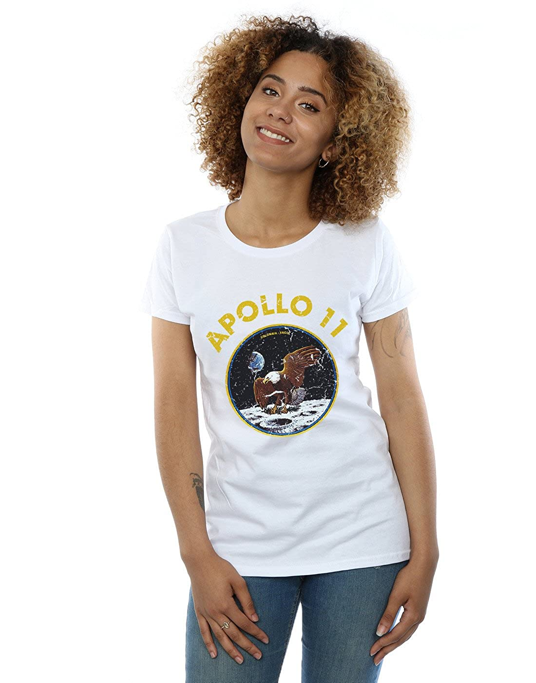 Absolute Cult NASA Mujer Classic Apollo 11 Camiseta