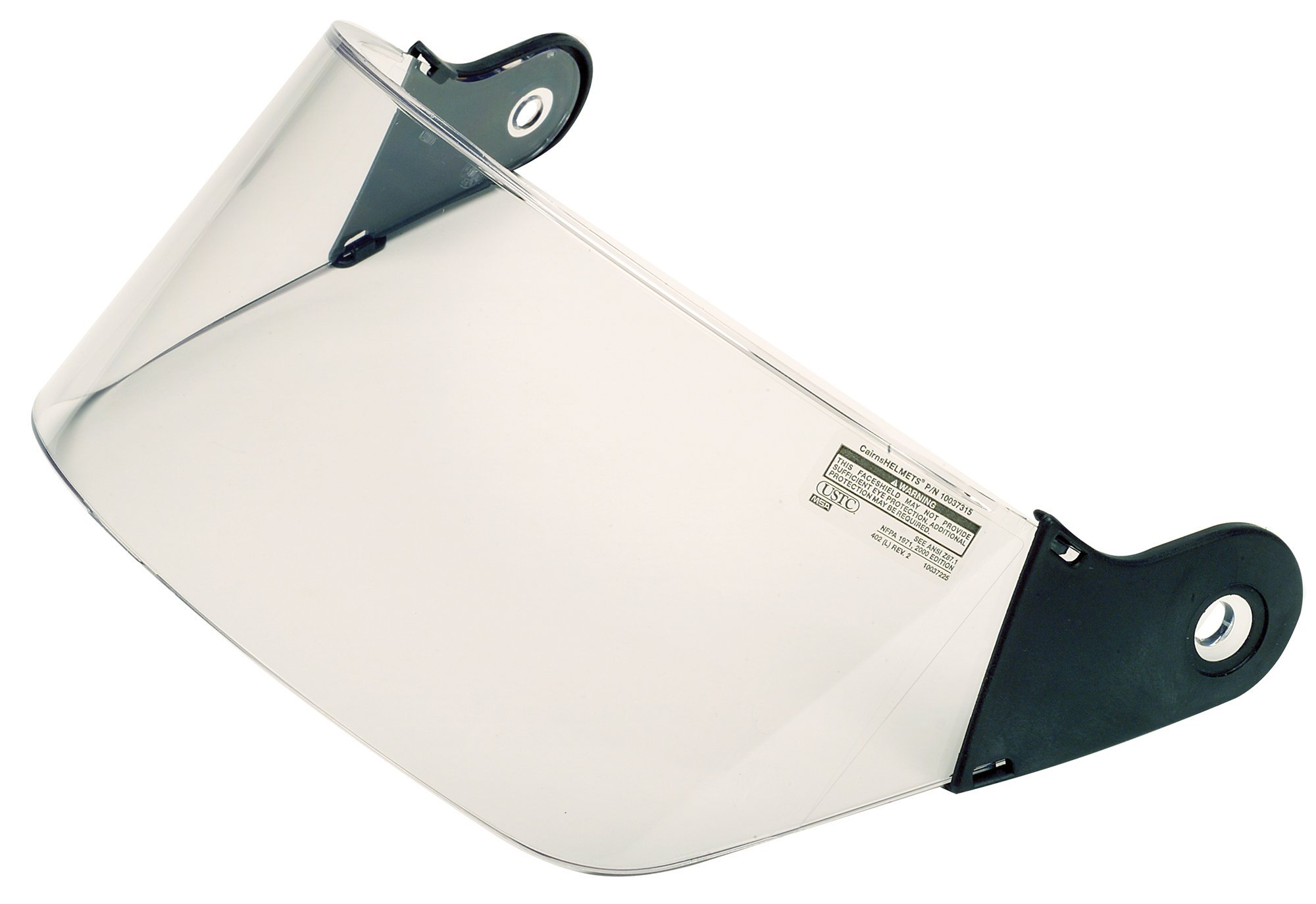 MSA 10037315 Polycarbonate Faceshield with Wing Protectors, 4'' Width, Clear