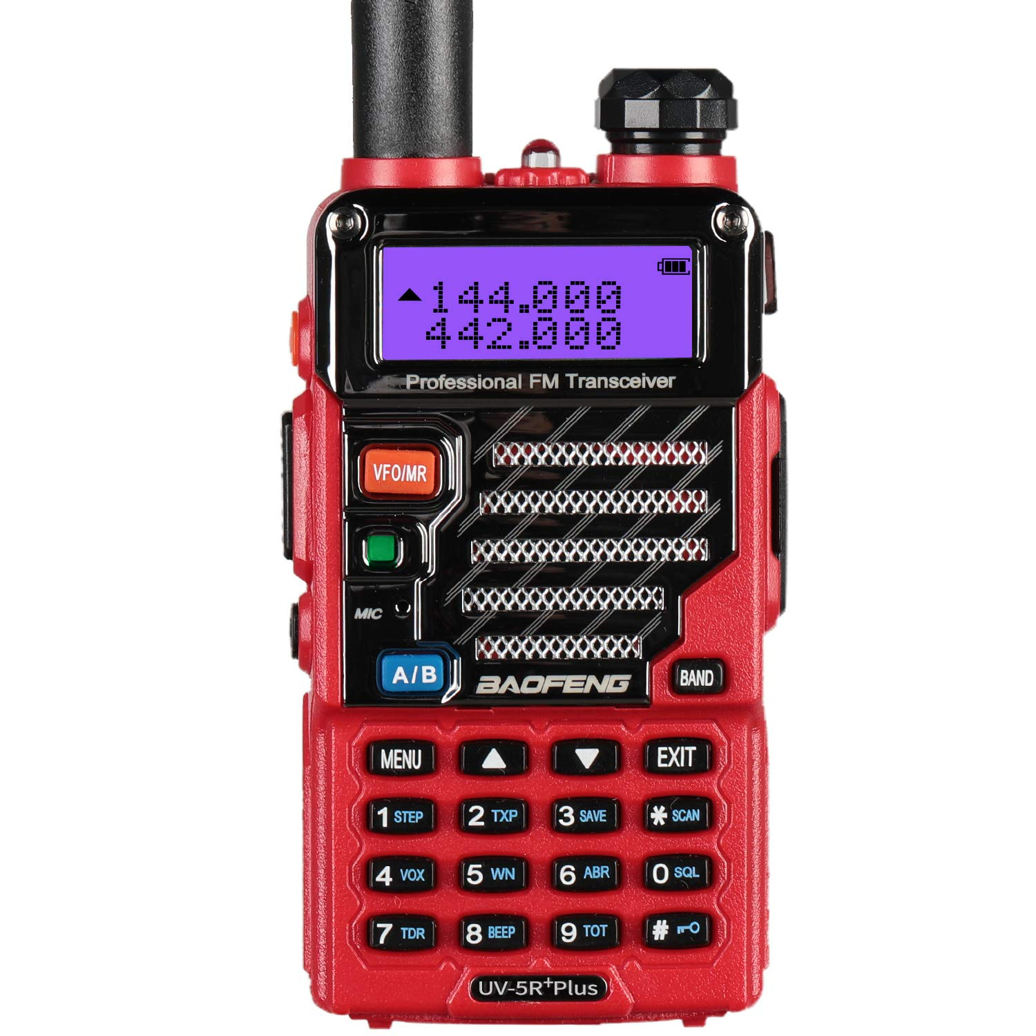 BaoFeng UV-5R Plus Qualette Two way Radio (Flame Red) by BAOFENG