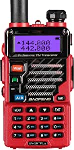 BaoFeng UV-5R Plus Qualette Two way Radio (Flame Red)