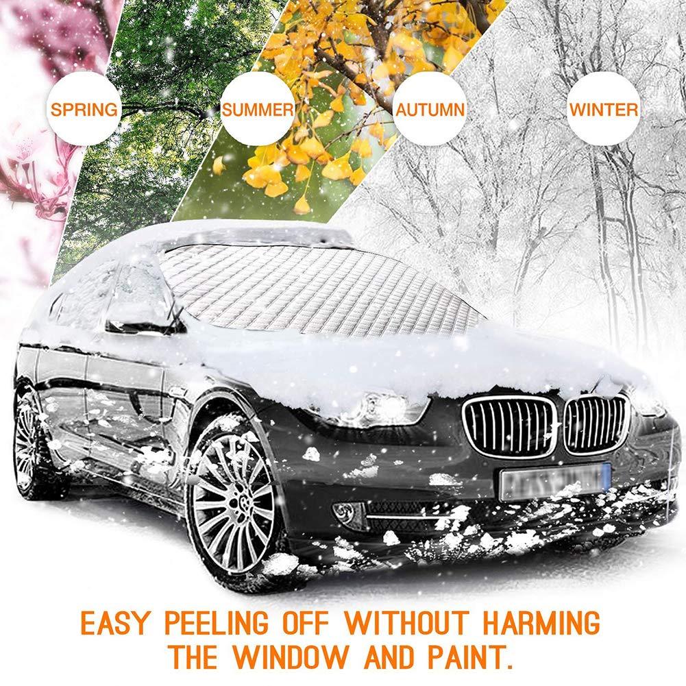 Amazon.es: Cozywind - Cubierta para Parabrisas de Nieve, Impermeable, protección Solar para Todos los Coches, Camiones, SUV 182 x 116 cm