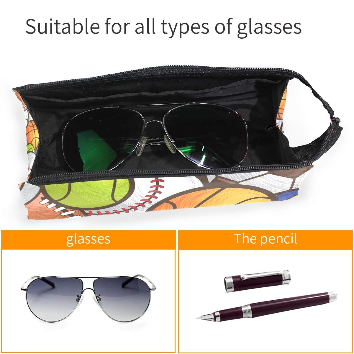 My Little Nest Eyeglass Sunglasses Holder Pouch Bag Balls Multi Function Zipper Pen Case Pencil Bag Organizer