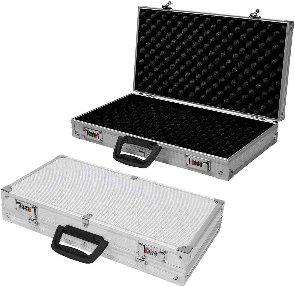 Pistolen Koffer Kurzwaffenkoffer Pistolenkiste Munition Koffer Box Fall Alu V4S5