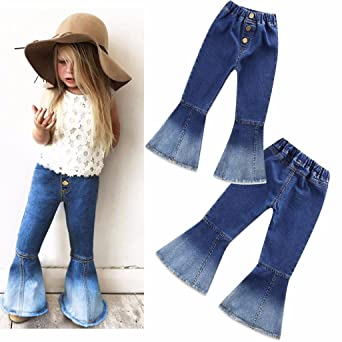 Amazon.com: Likero Children Infant Kid Girls Vintage Jeans ...