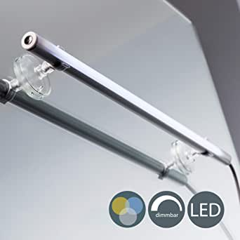 B.K.Licht I Led-spiegellamp voor make-up I met dimfunctie I 4 watt I 420 lumen I inclusief zuignappen en wandspot