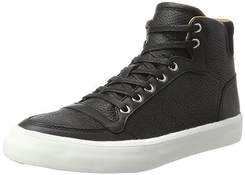 Hummel Leder Sneaker Hoch Unisex – Stadil RMX Lux High – Freizeitschuh Schwarz & Grau – Shoe Leather/Suede – Turnschuh Premium Style – Sneaker Comfort Sohle