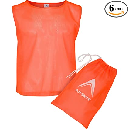 c618e276d Athllete Set of 6 - Child Scrimmage Vests Pinnies   Team Practice Jerseys  with Free