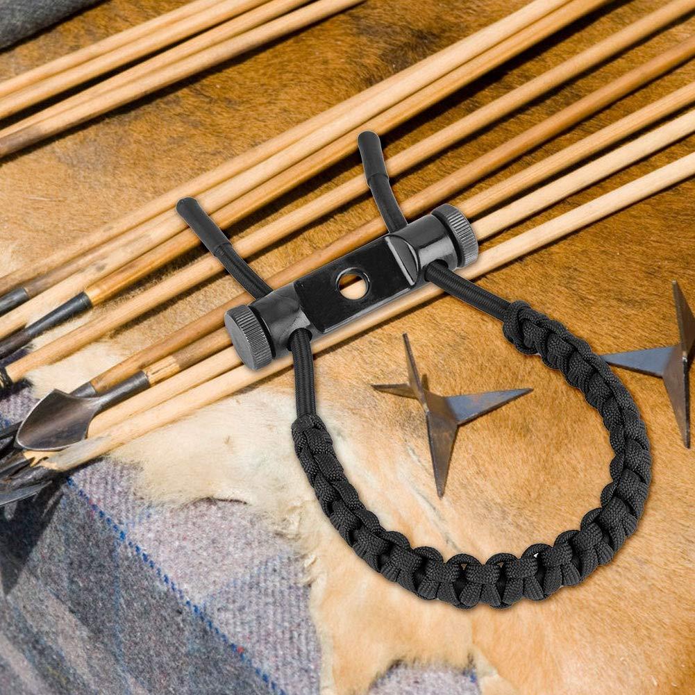 Zer one Bogenschie/ßen Handgelenk Riemen 1 PCS Bogenschie/ßen Adjustierbarer Haltbarer Lederner Verbundbogen Handgelenk Riemen