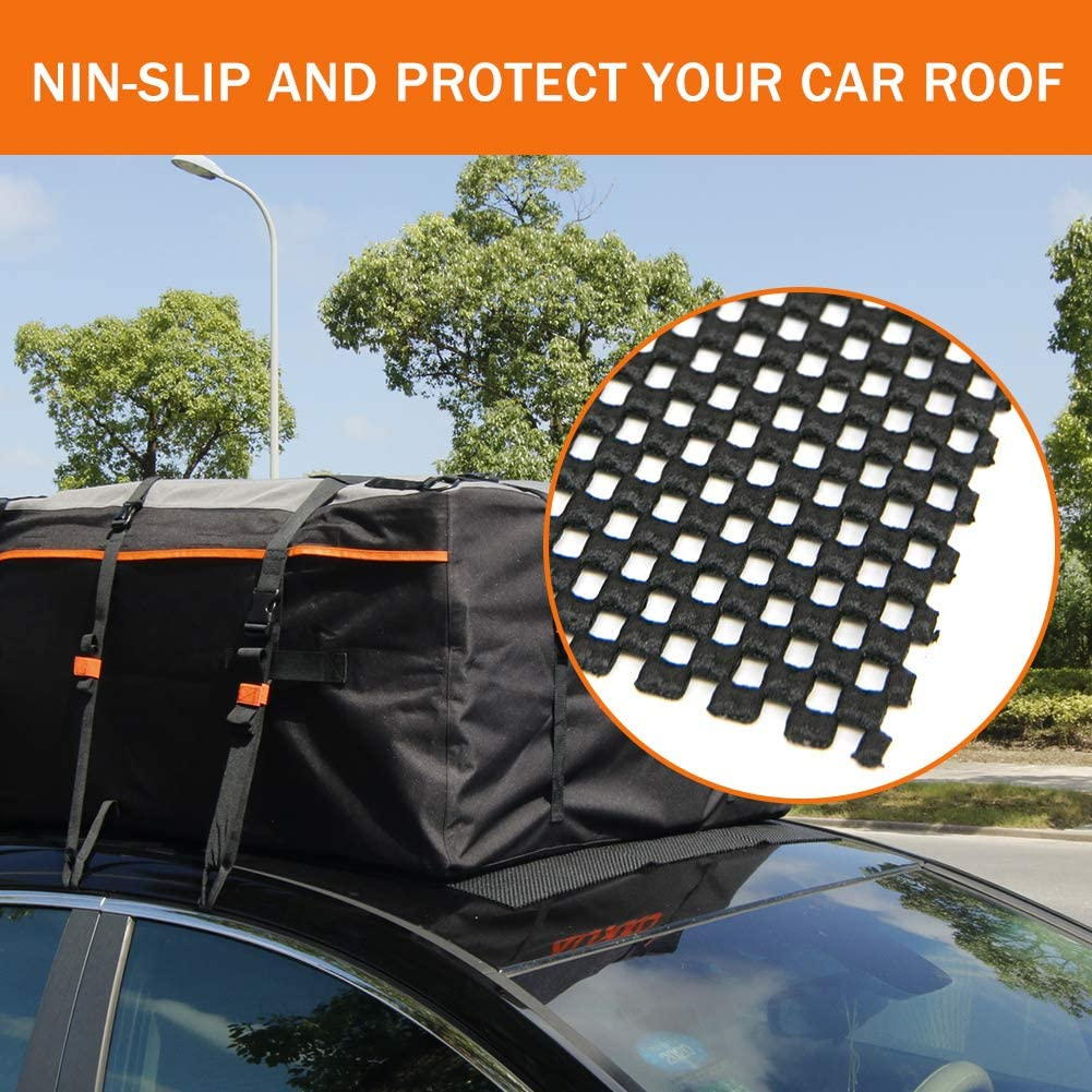 Auxko ROOF Cargo Bag Protective MAT for Car Roof Storage Bags 49 x 37 Top Universal Roof Rack Mat for Protection from Car Roof Racks