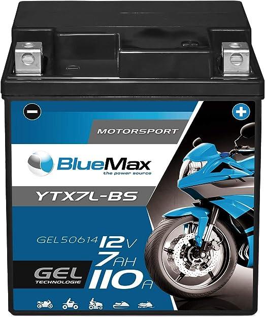 Bluemax Ytx7l Bs Motorradbatterie Gel 12v 7ah Ctx7l Bs Batterie Roller 7ah 6ah Auto