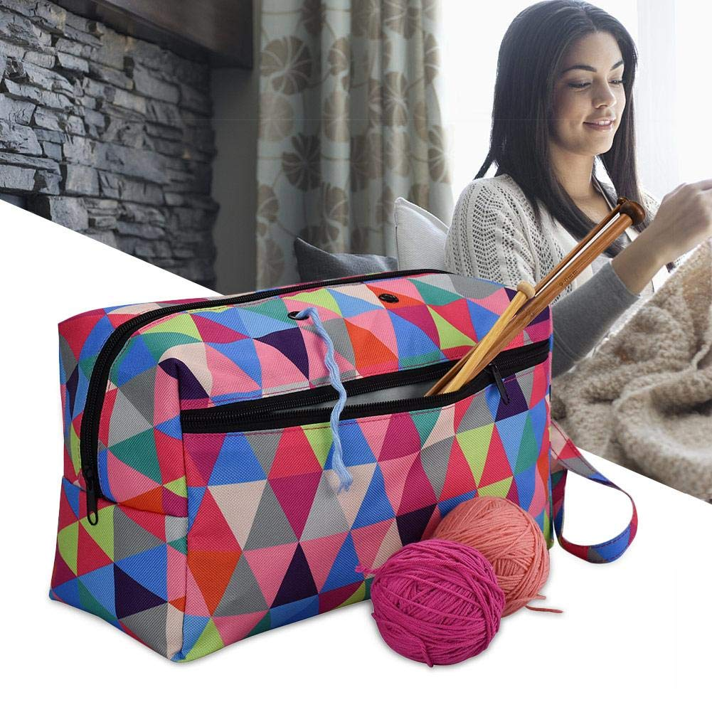Knitting Bag ❤ Sturdy Portable High Capacity Yarn Storage Tote Bag Project Bags with Roomy Interior Great for Organizing for Each of Projects