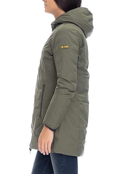 buy popular 5077a 4925c Piumino Donna Pyle Ciesse Piumini Verde Militare/Blu: Amazon ...