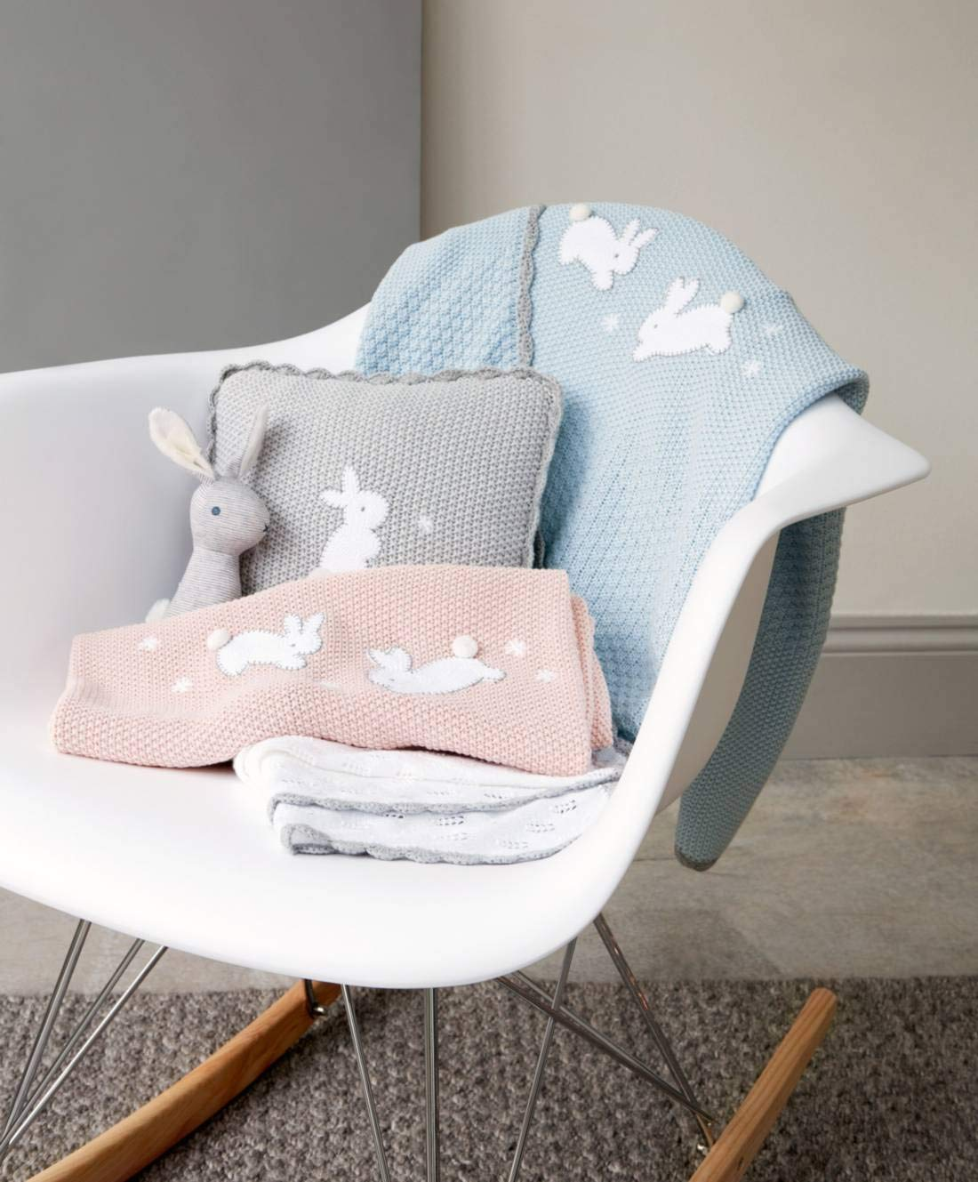 Mamas and Papas Welcome to the Word Pointelle Blanket Nursery Bedding Pram//Pushchair//Buggy Blanket