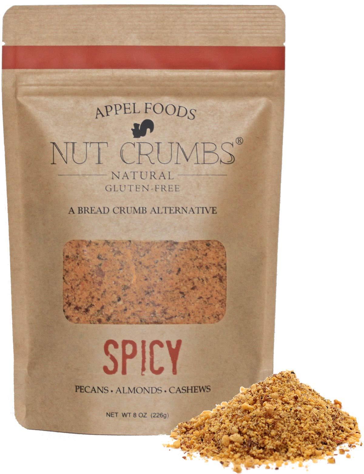 Appel Foods - Nut Crumbs - Bread Crumb Alternative - Gluten Free - Sugar Free - Low Carb - Low Sodium - Raw, Premium Nuts - Spicy by Appel Foods Nut Crumbs Natural Gluten-Free A Bread Crumb Alternative