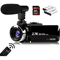 Video Camera Camcorder with Microphone, Vmotal 2.7K HD 42.0 MP 18X Digital Zoom 1080P IR Night Vision Vlogging YouTube…