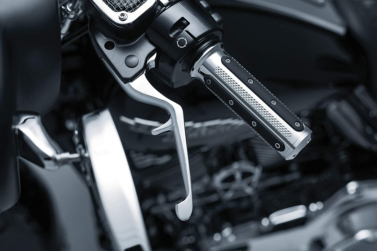 Chrome Clutch and Brake Trigger Levers for 1996-2017 Harley-Davidson Motorcycles with Cable Clutch 1 Pair Kuryakyn 1029 Motorcycle Handlebar Accessory