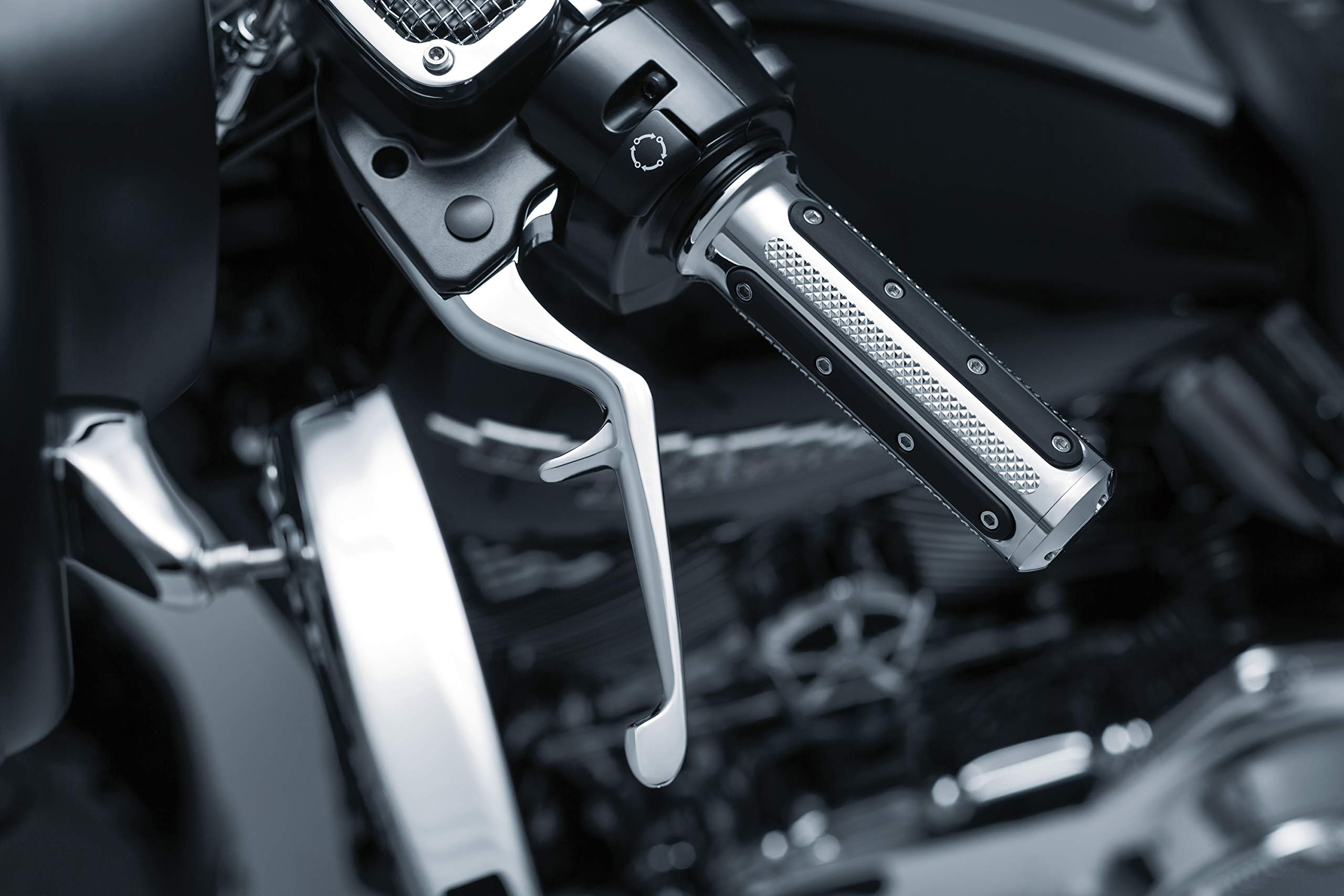 Kuryakyn 1843 Motorcycle Handlebar Accessory: Clutch and Brake Trigger Levers for 2014-16 Harley-Davidson Touring Motorcycles, Chrome, 1 Pair by Kuryakyn