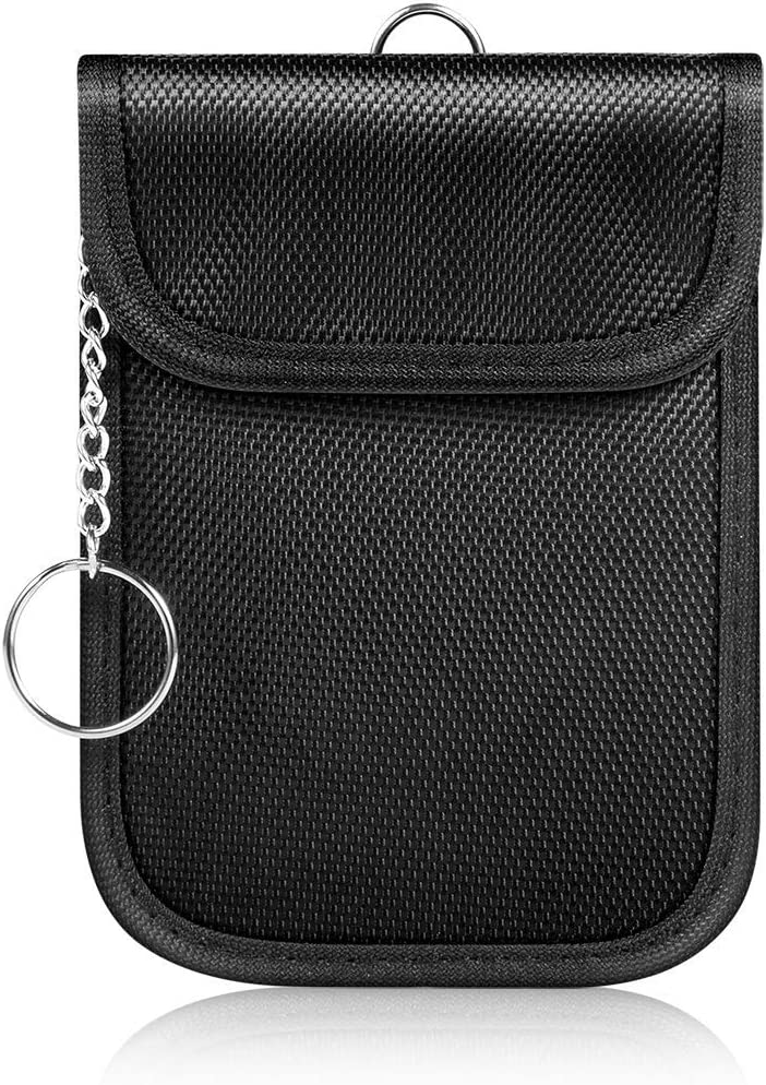 Faraday Bag RFID Signal Blocker Bag Shielding Pouch Wallet Case for Cell Phone Privacy Protection and Car Key Fob 2 Pack Syscudo Faraday Bag