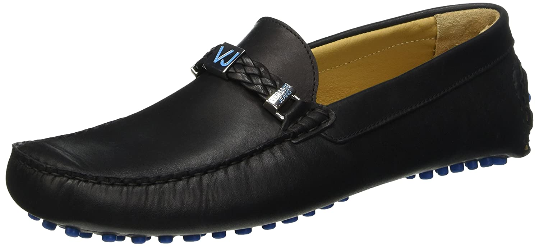 Versace Jeans (VES6U) EE0YNBSF1, Mocasines para Hombre, Negro-E899, 44 EU: Amazon.es: Zapatos y complementos