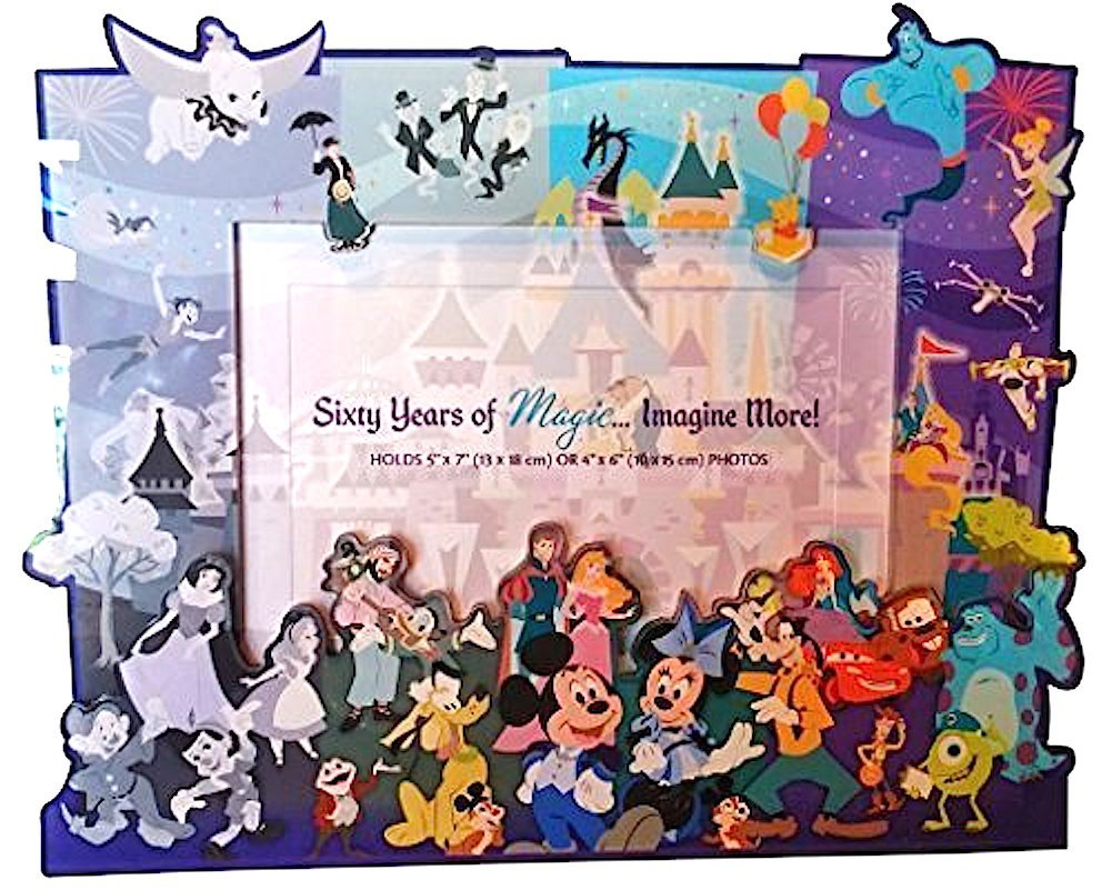 amazoncom disneyland 60th anniversary diamond celebration through the years frame - Disney Picture Frames