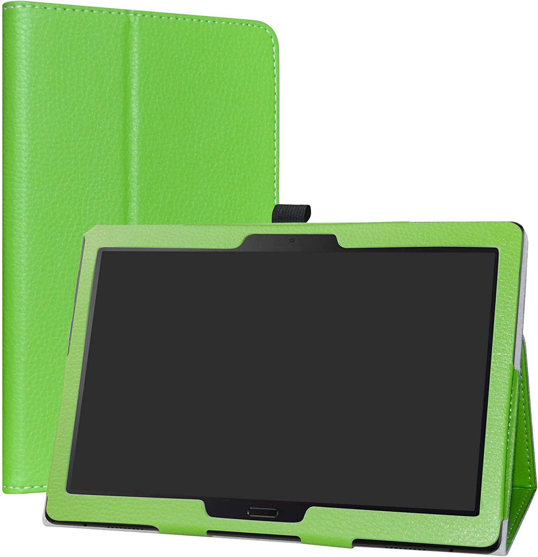 "Lenovo Smart Tab P10 / M10 Case,LiuShan PU Leather Slim Folding Stand Cover for 10.1"" Lenovo Smart Tab P10(TB-X705F)/ M10 (TB-X605F) Android Tablet PC,Green"