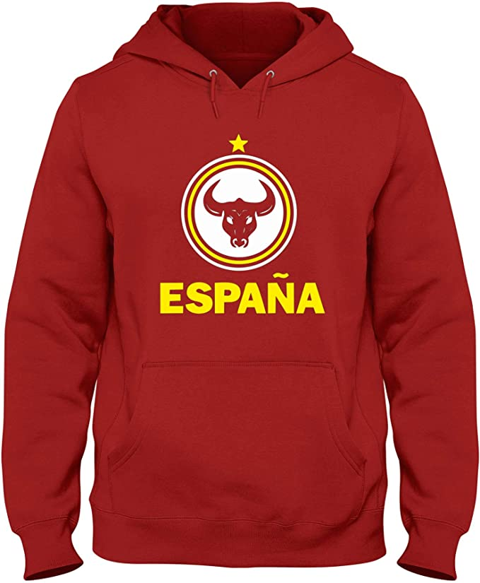 Speed Shirt Sudadera con Capucha Rojo WC0104 Spain Espana Spagna: Amazon.es: Ropa y accesorios