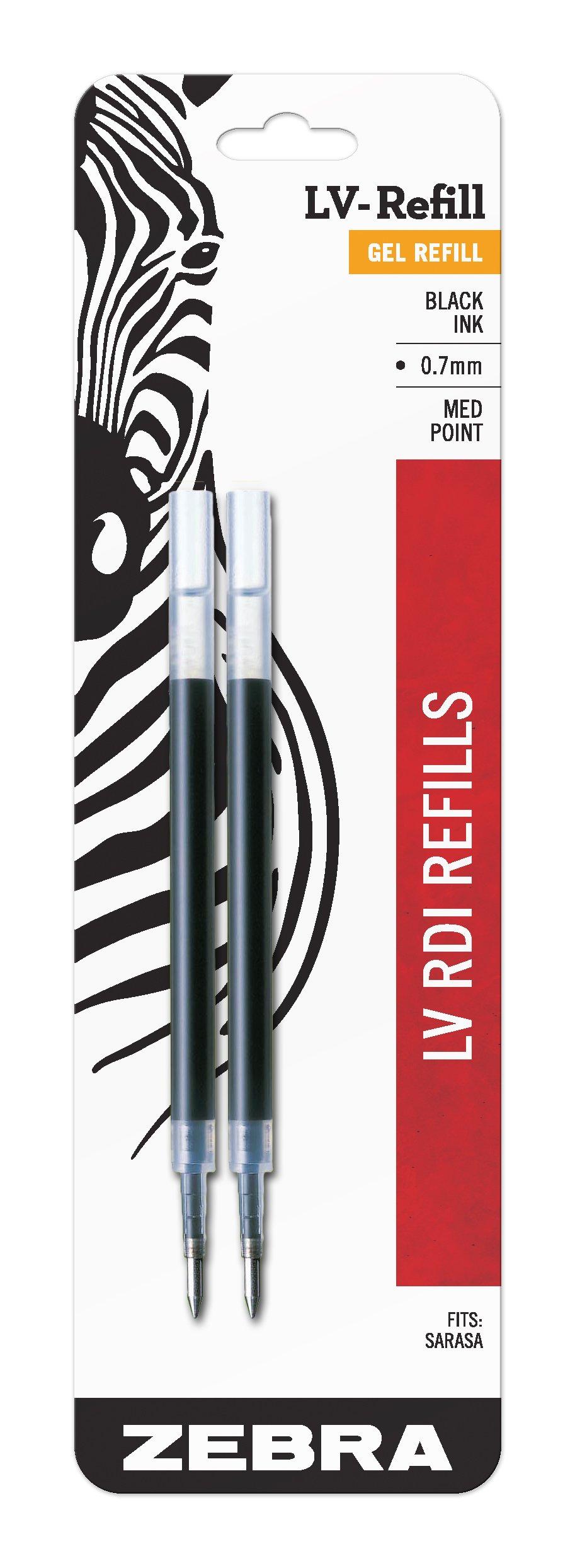 Recarga Tinta Zebra 0.7mm Negro (87012) [2un.]