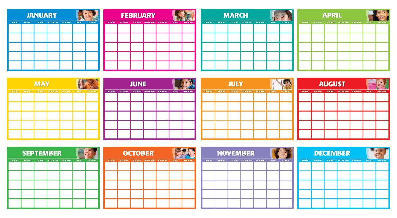 Amazon Com Fill In Monthly Calendars Bulletin Board Sc543300