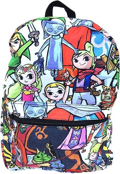 Amazon.com: Zelda Mochila – Mochila Chibi de 17.0 in: Clothing