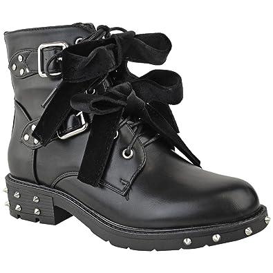 fc39af08047627 Damen Biker-Stiefel mit Nieten