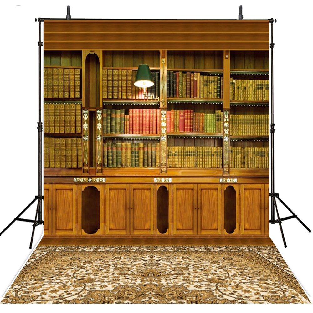 8 x 8ft Booksバックドロップ写真ヴィンテージ背景写真背景幕ビニール写真背景コンピュータ印刷写真背景   B072QBVW2G