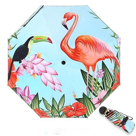 Win-Y Paraguas Plegable, Mini umbrella Portátil Compacto para el Sol & Lluvia 99