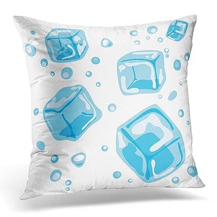 Amazon Sdamas Decorative Pillow Cover Blue Air Ice Cubes Bead Unique Ice Blue Decorative Pillows