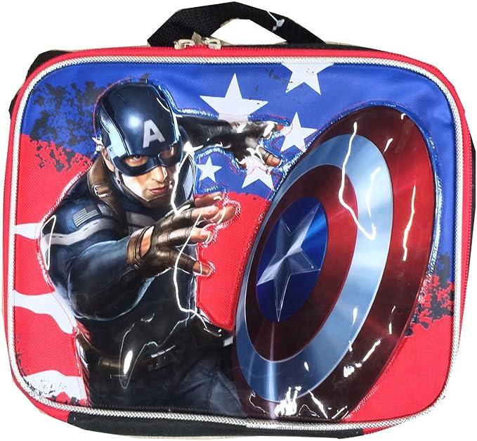 Marvel Avengers Captain America Civil War Insulated Lunch Bag For Boy~FastShip