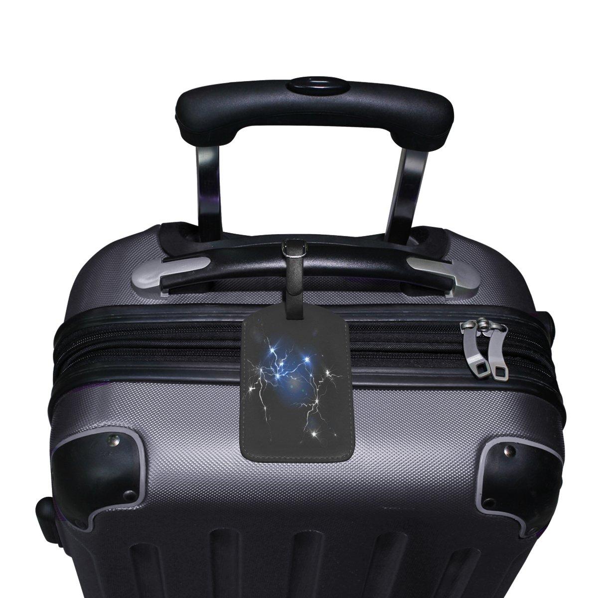 Saobao Travel Luggage Tag Cartoon Lightning PU Leather Baggage Suitcase Travel ID Bag Tag 1Pcs