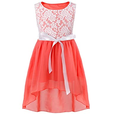 ylovego Lovely Flower Girl Dress Formal Wedding Party Dress Pageant Princess Sleeveless A-Line Long