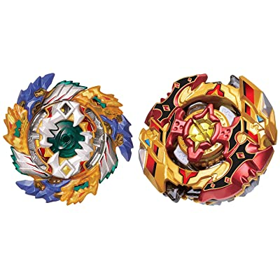 Super z Beyblade Toys B-122+B-128 Spin Fighters gyro Warrior(2 Pack) ByFEI ES: Juguetes y juegos