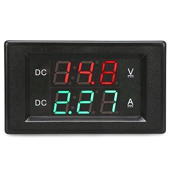 DROK® DC 4.5-100V 50A Voltmeter-Amperemeter Digital-Multimeter ...