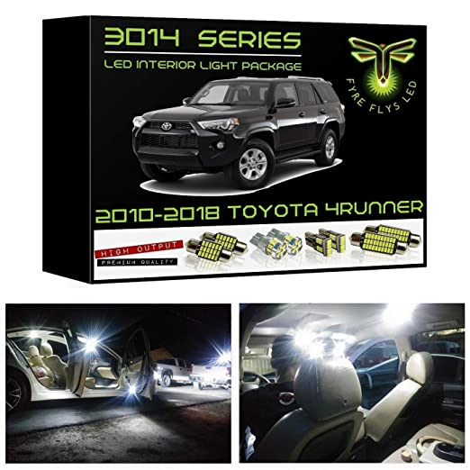 amazon com: fyre flys white led interior lights for 2010-2019 toyota  4runner 16 piece super bright 6000k 3014 series smd package kit and install  tool:
