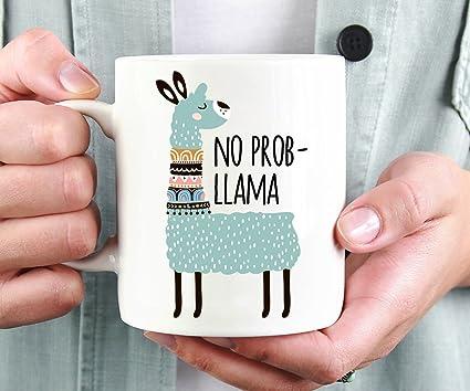 Amazon No Prob Llama Mug Funny Coffee