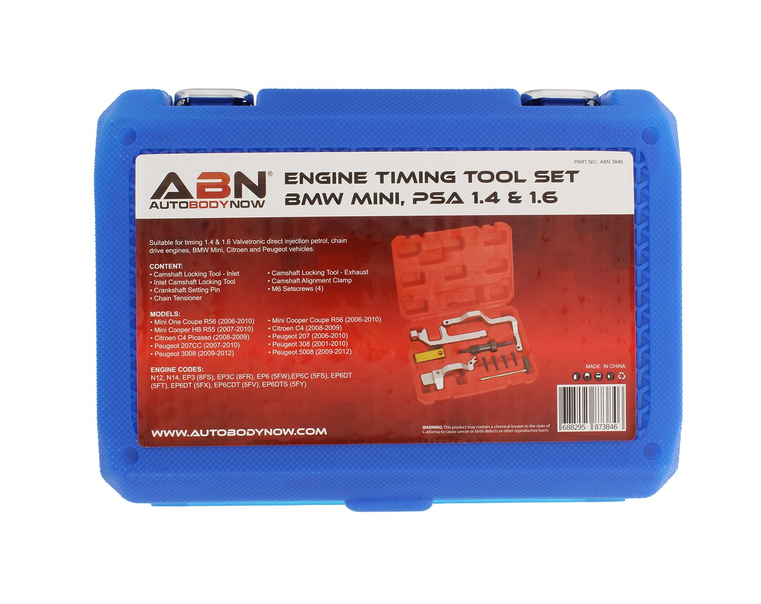 Abn Engine Timing Tool Set For Mini Cooper N12 N14 Bmw Ford 2006 5 4 Chain Tensioners Citroen Peugeot Belt Tools Amazon Canada